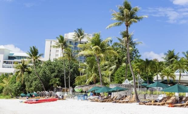 A beach resort in Guam