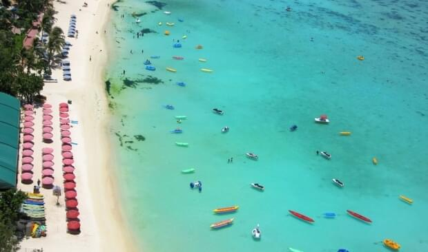 Guam's clear waters and white-sand beaches