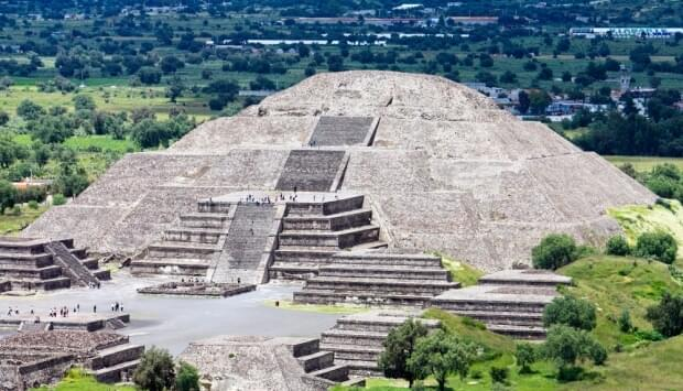 Explore the ancient pyramids of Teotihuacan near Mexico City