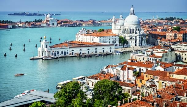 Beautiful view of the Grand Canal in Venice