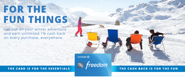 The Chase Freedom card has great earning potential on select purchases