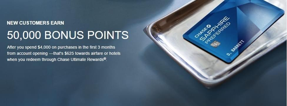 Chase Sapphire Preferred has a 50,000-point sign-up bonus