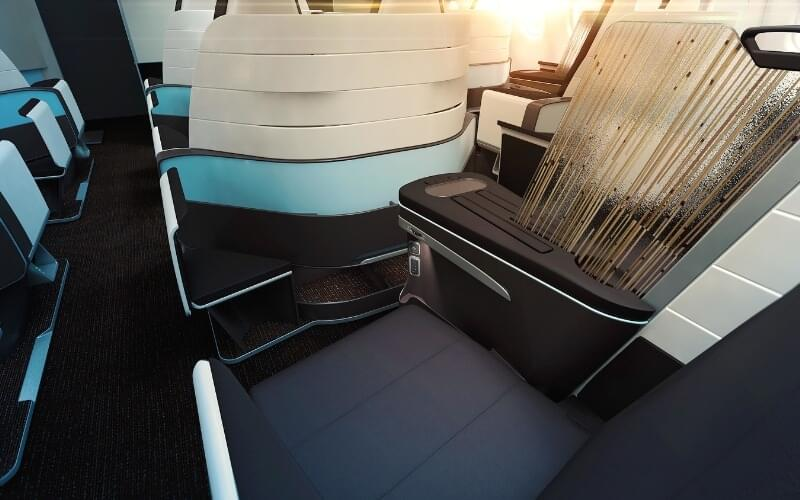 Hawaiian Airlines' new lie-flat business class seats