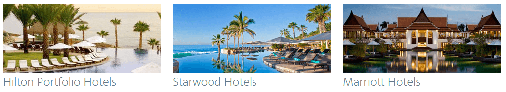 You can earn AAdvantage miles on hotel stays at Hilton, Starwood and Marriott