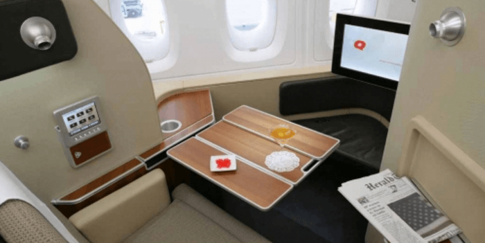First Class Suite on Qantas