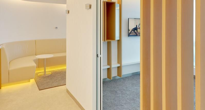 Reset your body after a long flight at the Yoga room in the SkyTeam Lounge