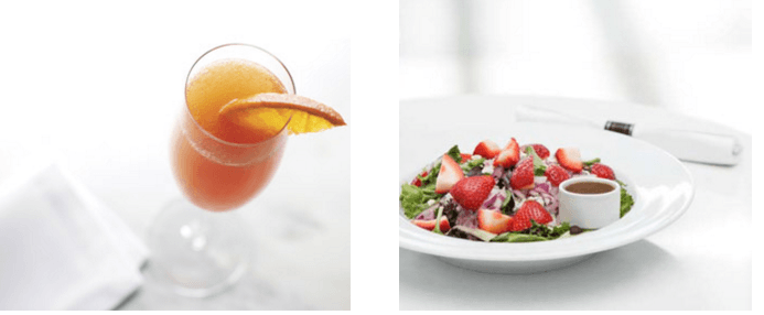 Admirals Clubs offer wide choice of complimentary food