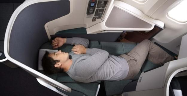 Business class on the Boeing 777-300ER. Credit: Cathay Pacific