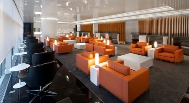 Business Class Lounge, located on Level 6 of The Wing at Hong Kong International Airport