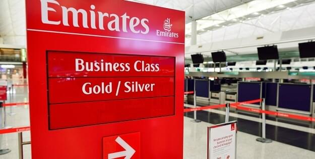 Emirates check-in counter