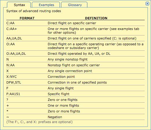 ITA routing language 1