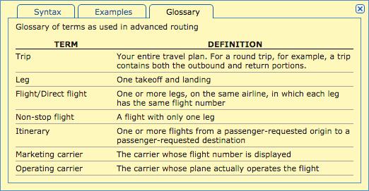 ITA routing language 3
