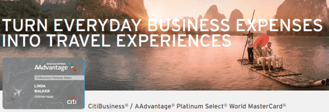 CitiBusiness AAdvantage Platinum Select World MasterCard
