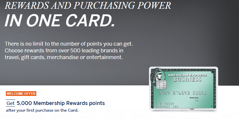 The Amex Business Green Rewards card