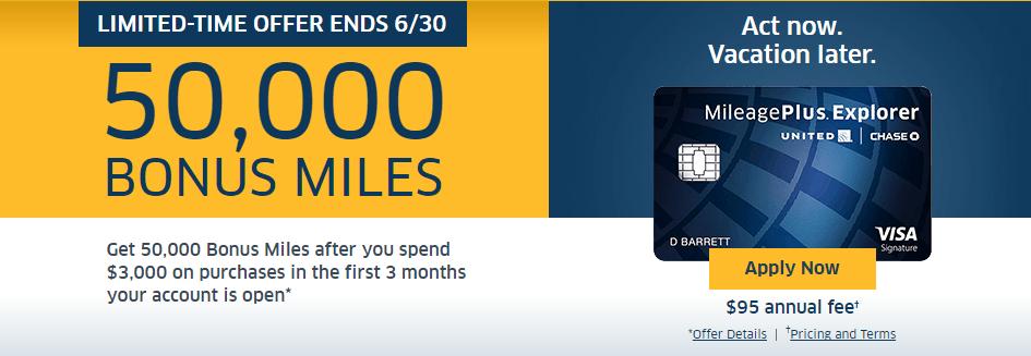 Chase United 50K Miles