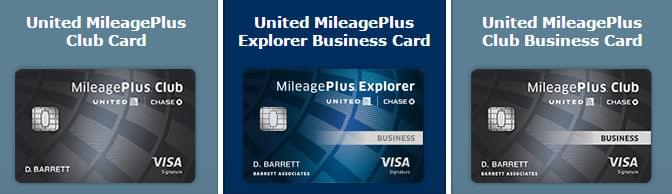 United's credit cards with travel rewards