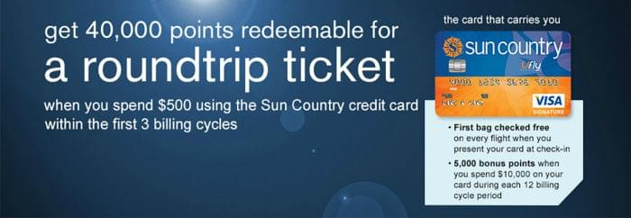 Get your huge sign-up bonus from Sun Country airlines