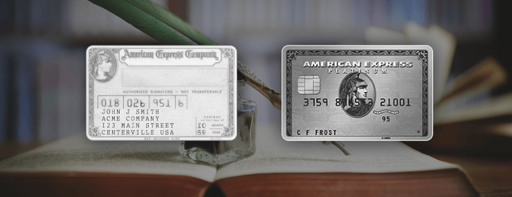 shows old and new amex platinum
