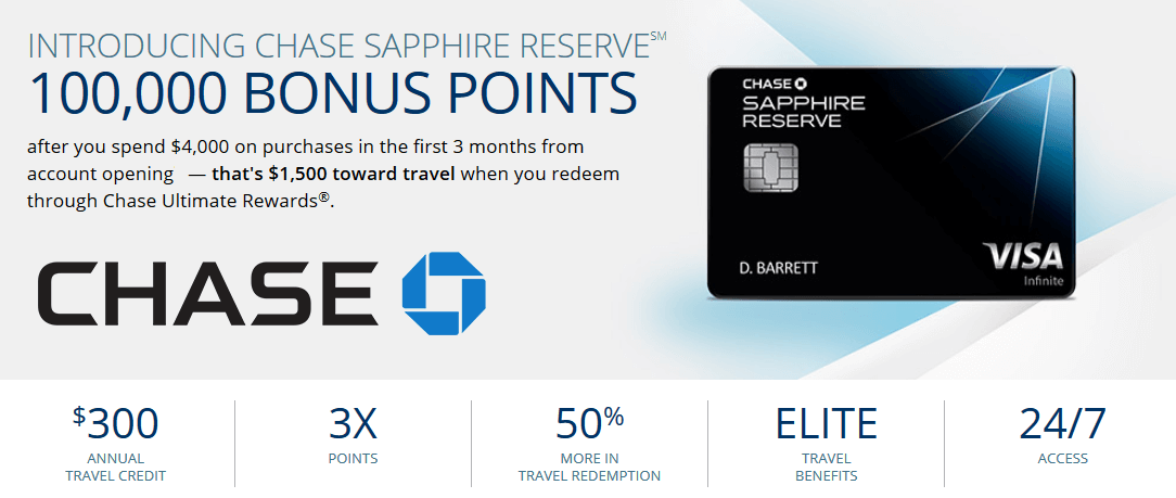 Chase Sapphire Reserve credit card benefits new