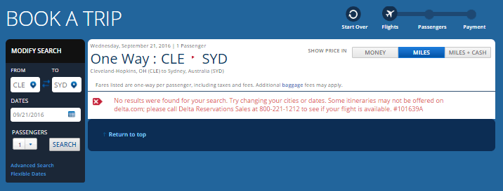 DL CLE-SYD