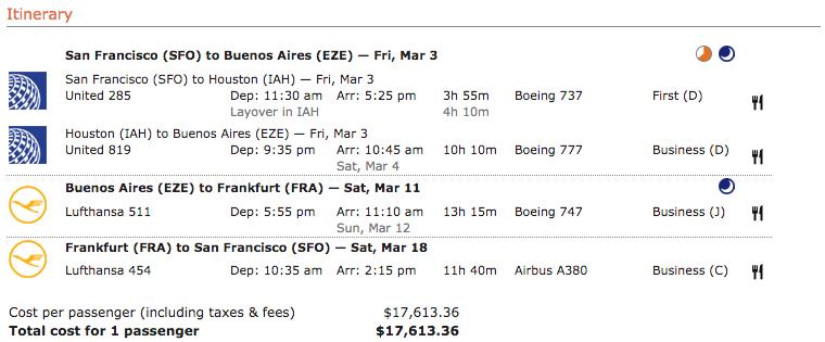 Lufthansa itinerary 6
