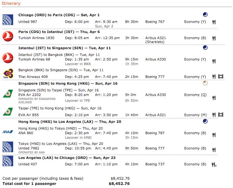 Lufthansa itinerary 7