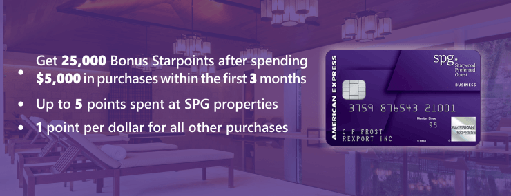 Earn more points with Starwood Preferred Guest Business Credit Card