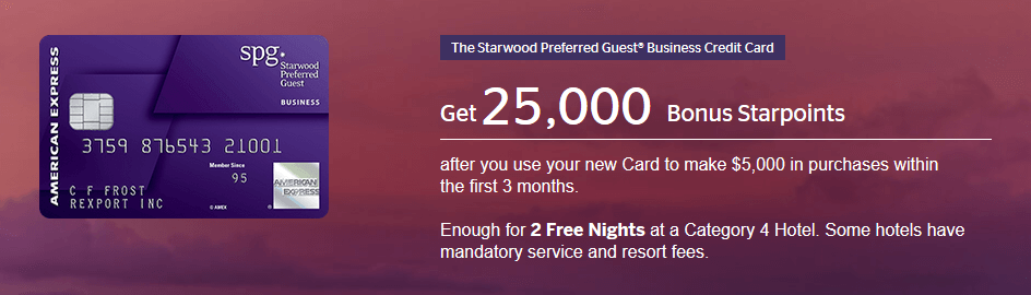 The Starwood Preferred Guest® Business Credit Card