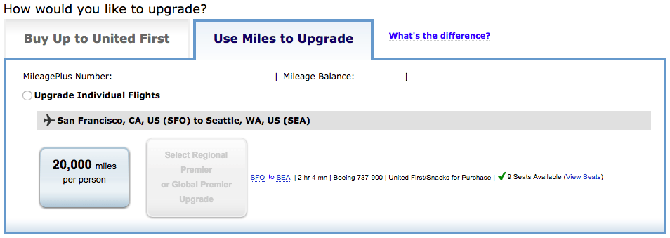 United upgrade confirmation