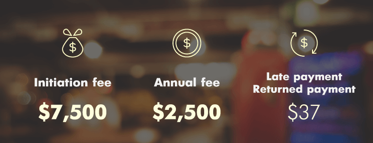 centurion card fees