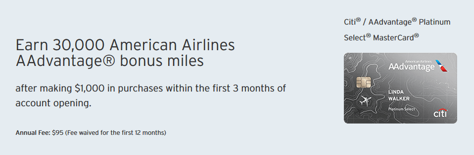 citi aadvantage platinum card sign up bonus