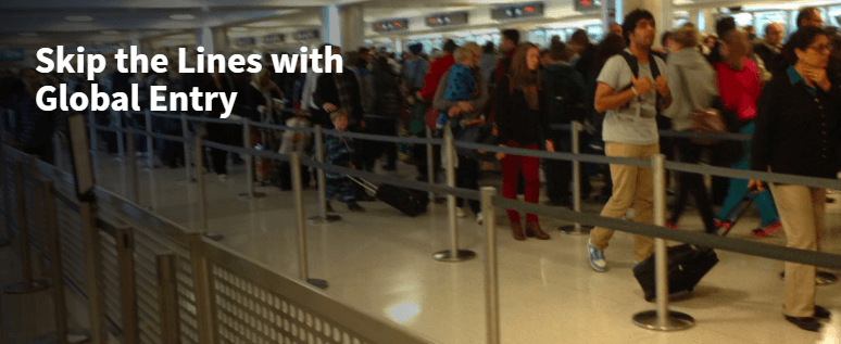skip the lines with Global Entry