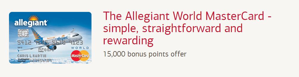 Allegiant credit card