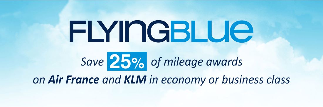 Save 25% miles with Flying Blue discounted redemptions