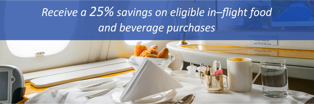 25% off in-flight purchases with the Citi Advantage Gold World Elite Card