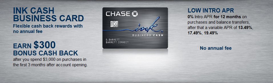 Chase Ink Cash business sign-up-bonus offer