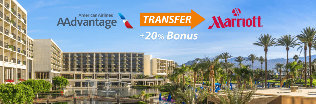 Convert American AAdvantage miles to Marriott and get bonus