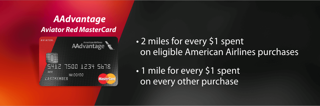 Earn rewards with the AAdvantage Aviator Red MasterCard