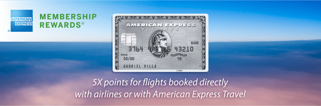 Earn 5 Membership Rewards points with American Express Platinum card
