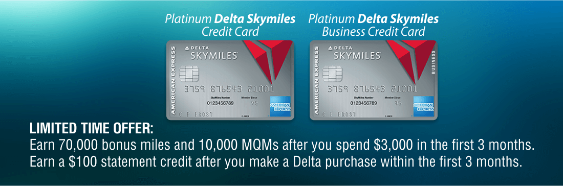 Our top picks credit cards with bonus sign up offers platinum delta skymiles and platinum delta skymiles business cards sign up bonus offers reheart Choice Image