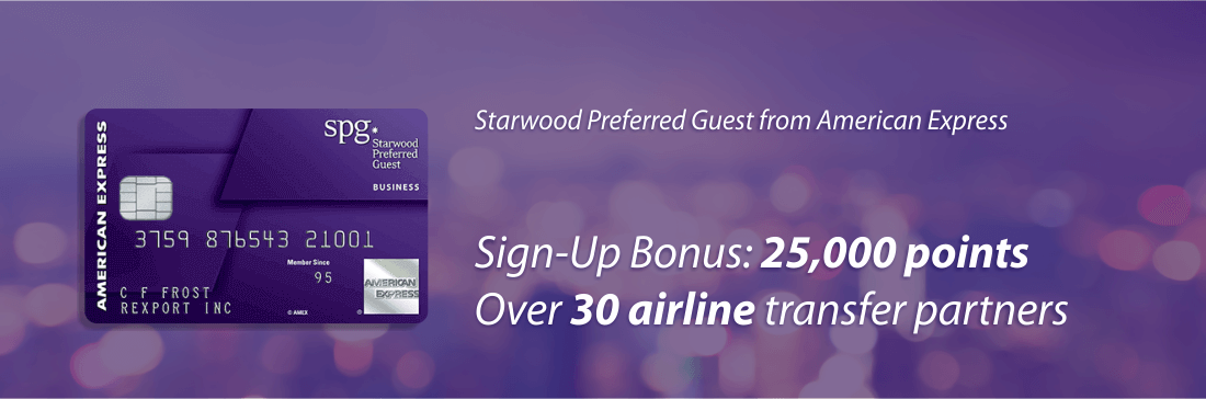 Starwood Preffered Guest credit card from American Exprexx