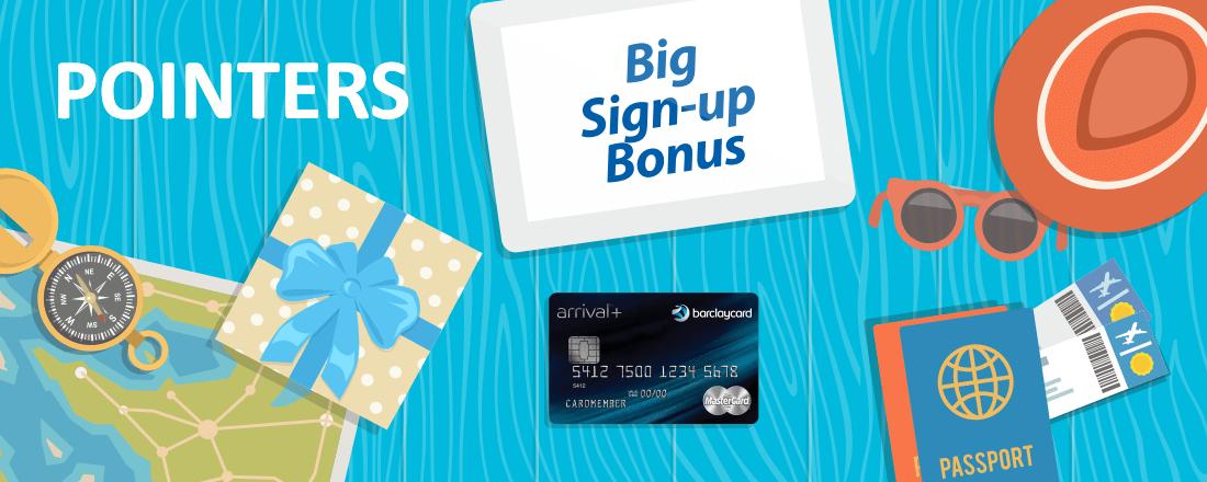 Big Bonus on Barclaycard Arrival Plus World Elite MasterCard Credit Card
