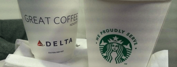 Enjoy Starbucks coffee onboard Delta and Delta Connection flights