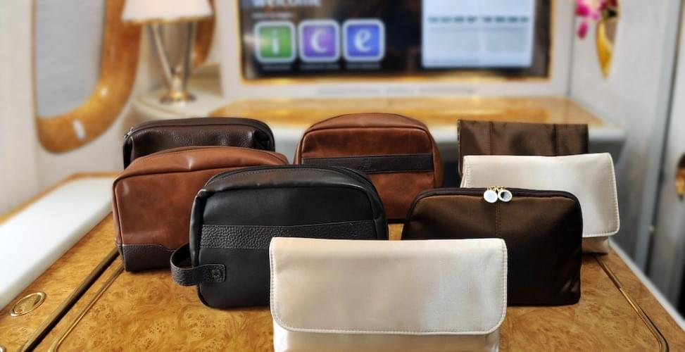 Emirates Ameniti kits by Bvlgari