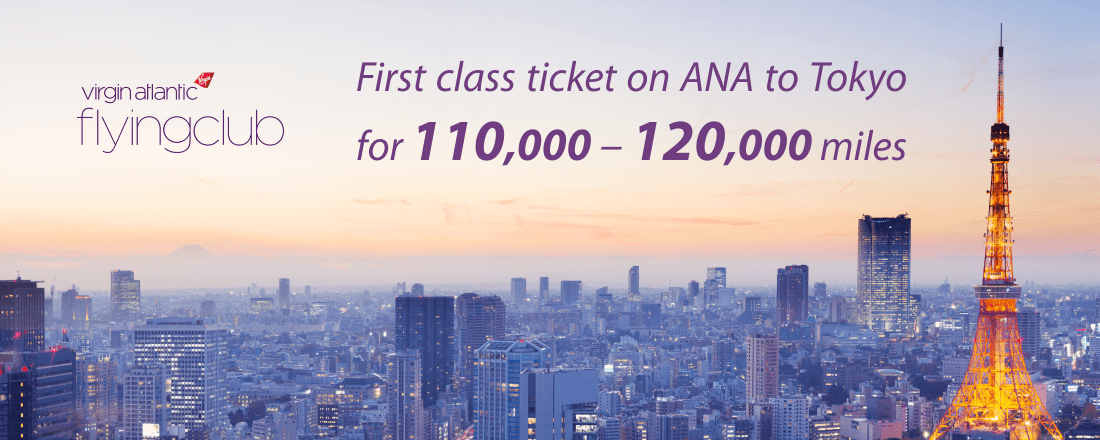 Use Virgin Atlantic miles to book first class ticket to Tokyo on ANA flights