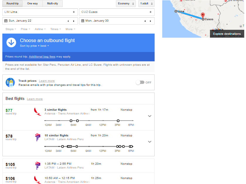 google-flights-lim-cuz