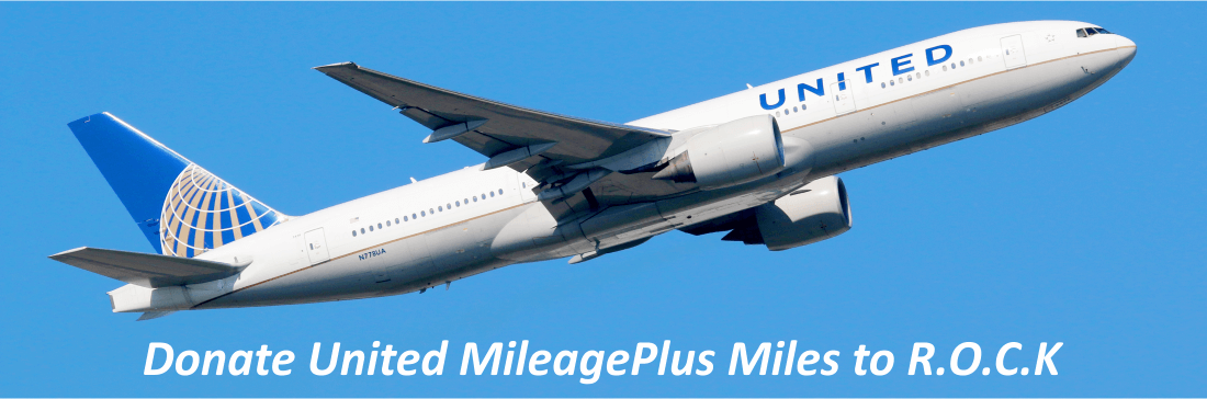 Donate United Airlines MileagePlus miles to R.O.C.K