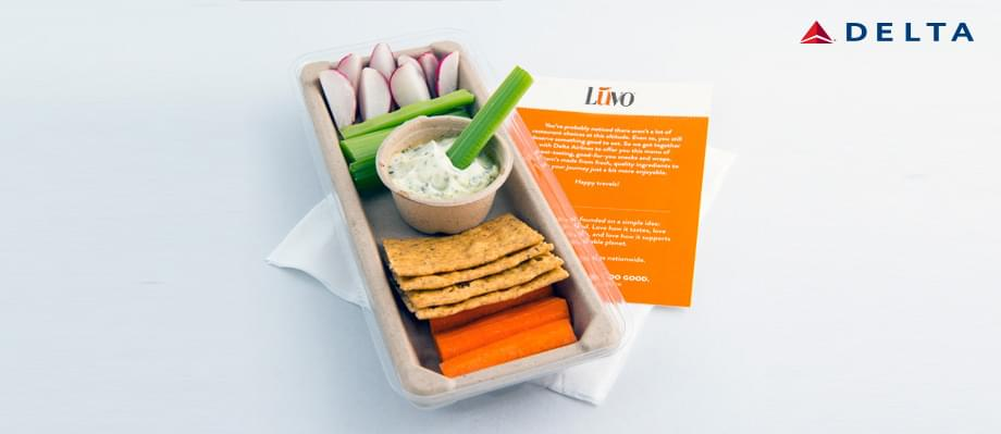 Luvo Delta partnership healthy snacks