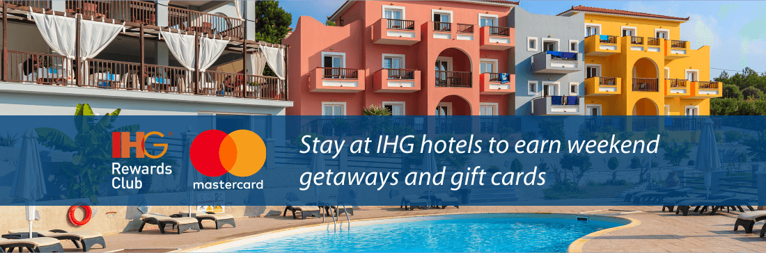 Pay with MasterCard at IHG hotels and earn rewards