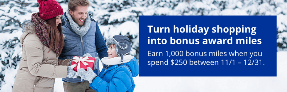1,000 mile shopping bonus with United